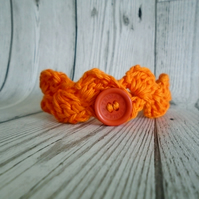 Orange Ankle Bracelet, Crochet Anklet, Boho Jewellery