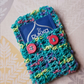Tea Bag Wallet, Crochet Turquoise  Pouch with Tea Bag