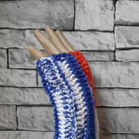 Red, White, Blue and Grey Gloves