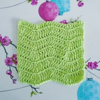 Reusable Facecloth, Green Flannel