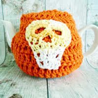 Orange Skull Tea Cosy