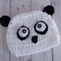 Panda Tea Cosy, Kawaii Crochet Panda, Black and White Cozy, Animal Gift, Tea