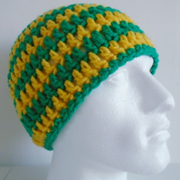 Green and Yellow Stripey Hat