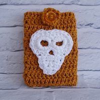 Mustard Yellow Skull Kindle Cover