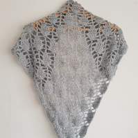 Silver sparkly Triangle Scarf