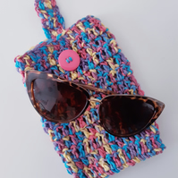 Striped Sunglasses Pouch