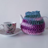 Crochet Tea Cosy, Purple