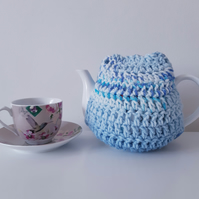 Crochet Tea Cosy, Blue
