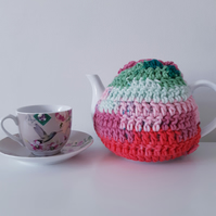 Crochet Tea Cosy, Watermelon