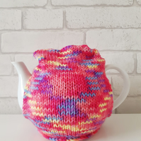 Rainbow Tea Cosy, Handknitted Cozy