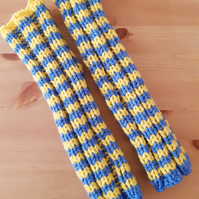 Blue and Yellow Legwarmers