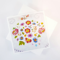 China Flowers Greeting Card
