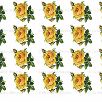 Furniture Wood Decal Vintage Image Transfer Antique 20 Yellow Rose Diy