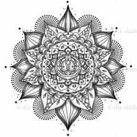Furniture Wood Decal Vintage Image Transfer Antique Black Mandala Diy