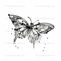 Furniture Wood Decal Vintage Image Transfer Antique Butterfly Drawing Diy