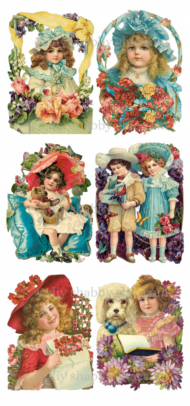 Furniture Wood Decal Image Transfer Antique Label Victorian Children Diy