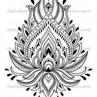 Furniture Wood Decal Vintage Image Transfer Antique Henna Design Diy Painting