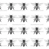 Furniture Wood Decal Vintage Image Transfer Antique Honeybee bw Diy Waterslide