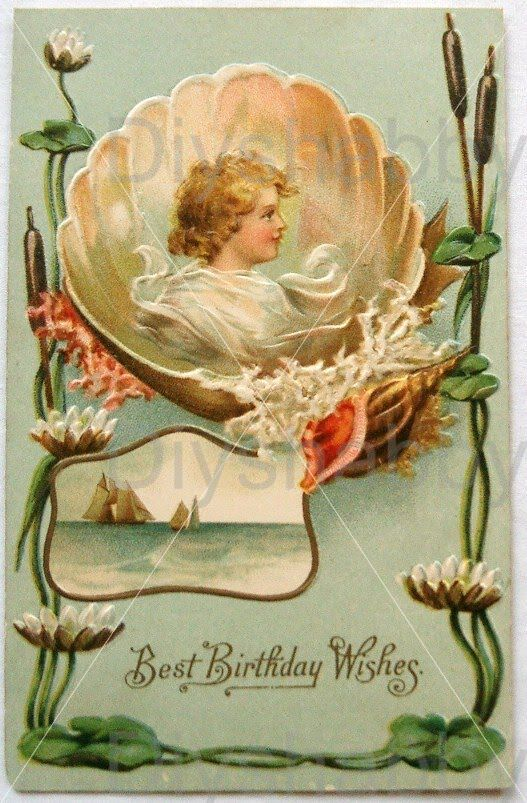 Waterslide Decal Vintage Image Transfer A Gift of Love Upcycle Shabby Chic DIY