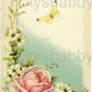 Furniture Wood Decal Vintage Image Transfer Antique Pastel Rose Diy