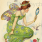 Furniture Wood Decal Vintage Image Transfer Antique Vintage Fairy Diy