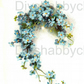 Furniture Wood Decal Vintage Image Transfer Antique Little Blue flowers Diy