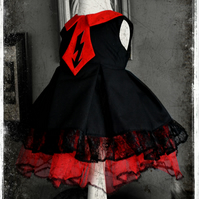Bespoke Gothic Marilyn Manson Inspired Baby Sundress Party Dress