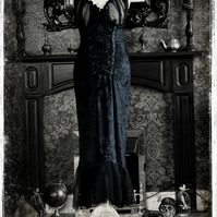 Beautiful Gothic Vampire Lillith Velvet Gown by House of Goth