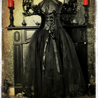 Bespoke Kooky Gothic Witch - Vampire Couture Dress by House of Goth