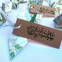 Origami cranes, wedding decor, place cards, table decor, buntings