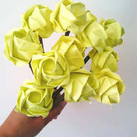 Origami roses with natural twigs, wedding anniversary, birthday present