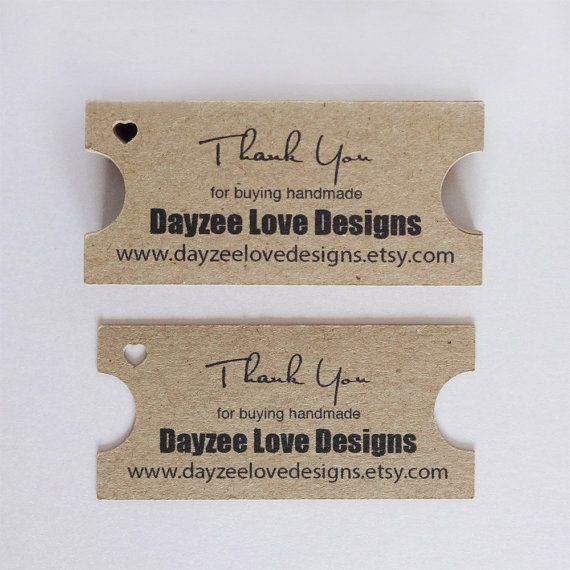 Ticket Business Cards - Rustic Save The date - Eco Friendly Tags - Branding