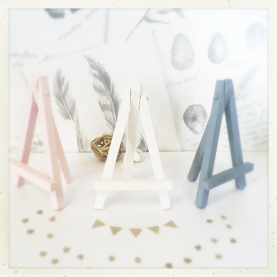 Wooden Mini Easel - Boho Wedding Decor - Wedding table Numbers - Home Decor