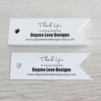 Wedding Favour Tags - Eco Friendly Business Cards - Recycled Save The Date