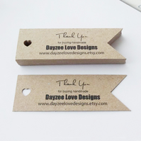 Boho Wedding Tags - Save The Date - Custom Heart Flags - Eco Friendly