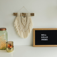 Small Modern Macrame wall hanging - Great boho style - Cool unique look