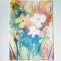 Watercolour Abstract Flower Posy