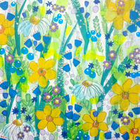 Busy Summer Flower Painting
