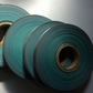 Discoloured teal colour roll ribbon