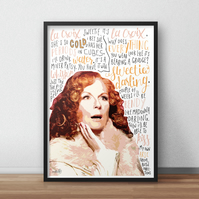 Edina Monsoon, Absolutely Fabulous INSPIRED Poster, Print with Quotes