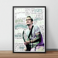 John Mayer INSPIRED Poster, Print with Quotes, Lyrics