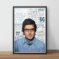 Louis Theroux INSPIRED Poster, Print with Quotes