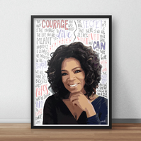 Oprah Winfrey INSPIRED Poster, Print with Inspirational Quotes