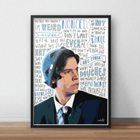 Cole Sprouse INSPIRED Poster, Print with Quotes