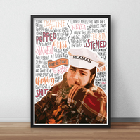 Post Malone, Whiskey Glass INSPIRED Poster, Print with Quotes, Lyrics, Rapper