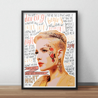 Halsey INSPIRED Poster, Print with Quotes, Lyrics