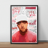 Mac Miller INSPIRED Poster, Print with Quotes, Lyrics