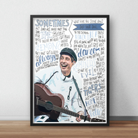 Gerry Cinnamon INSPIRED Poster, Print with Quotes, Lyrics