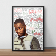 Santan Dave INSPIRED Poster, Print with Quotes, Lyrics, Rapper