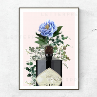 Gin Poster, Print